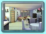 Toto je můj pokoj, pracovna, jídelna  a kuchyň zároveň